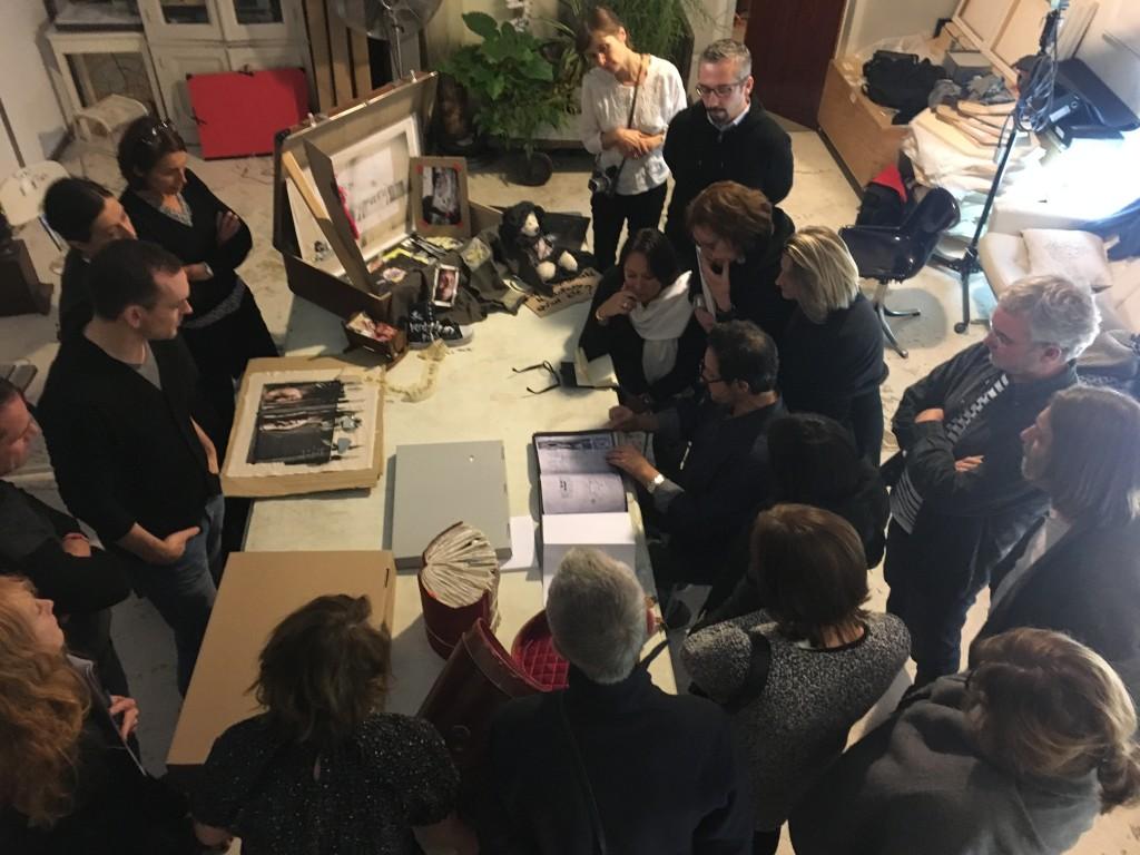 Le Masterklass dans le loft parisien, septembre 2016. Photo Mariangela Tripaldi